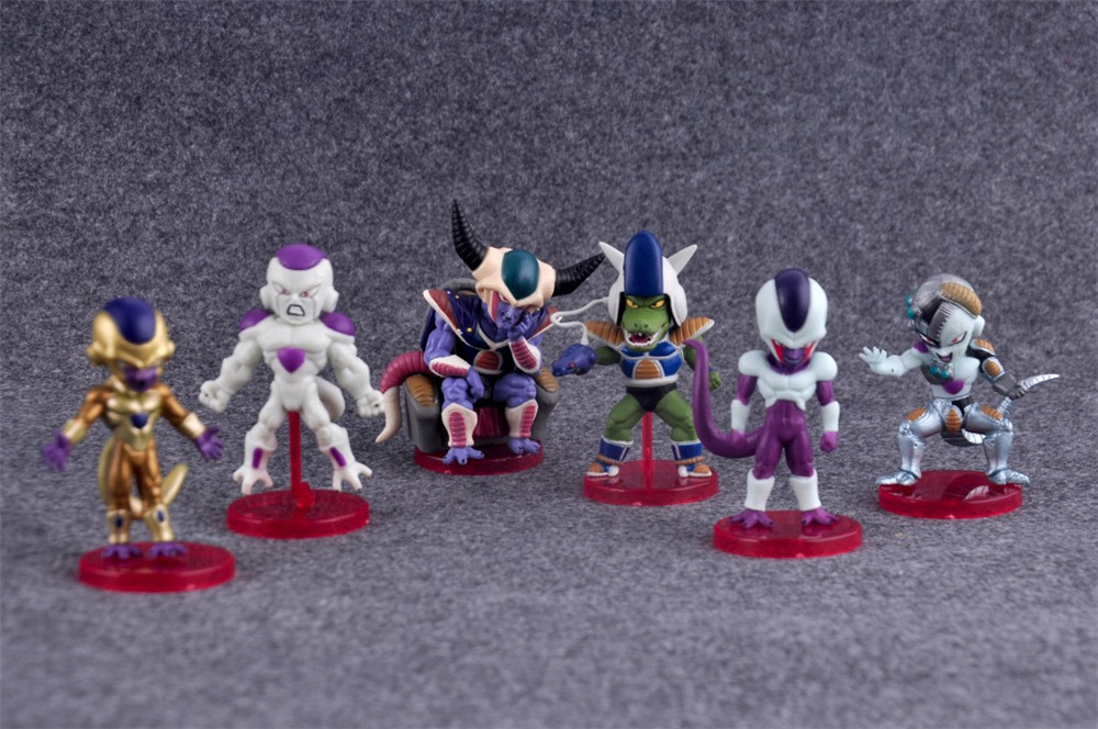 6pcs/set Anime Dragon Ball Z Figure F Super Saiyan Freeza Action Figure Brinquedos Collectible PVC Model Kids Toys N104 8pcs set anime how to train your dragon 2 action figure toys night fury toothless gronckle deadly nadder dragon toys for boys