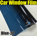 50x 300cm Blue Car Window Tint Film Glass VLT 20% Car Auto House Commercial Solar Protection Summer by free shipping