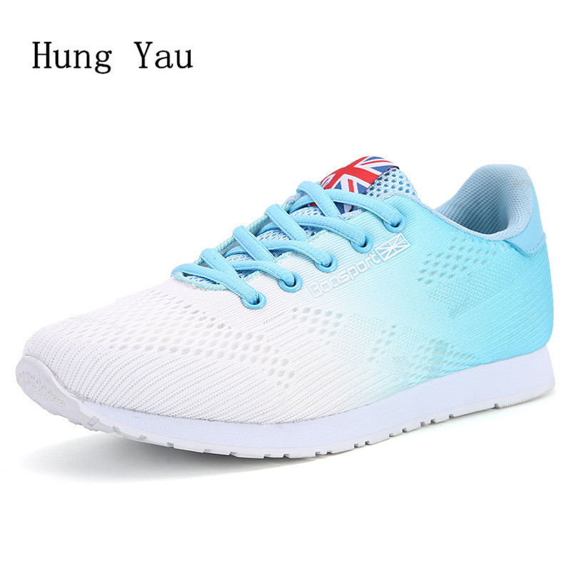 Women Casual Shoes Flat 2018 Fashion Outdoor Breathable Couple Shoes Lace Up Height Increasing Shoes Woman Platform summer breathable hollow casual shoes women slip on platform flats shoes fashion revit height increasing women shoes h498 35
