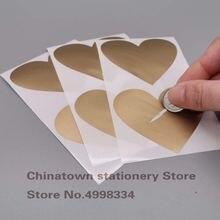 50 шт наклейки с защитой от царапин 60x70 мм в форме сердца