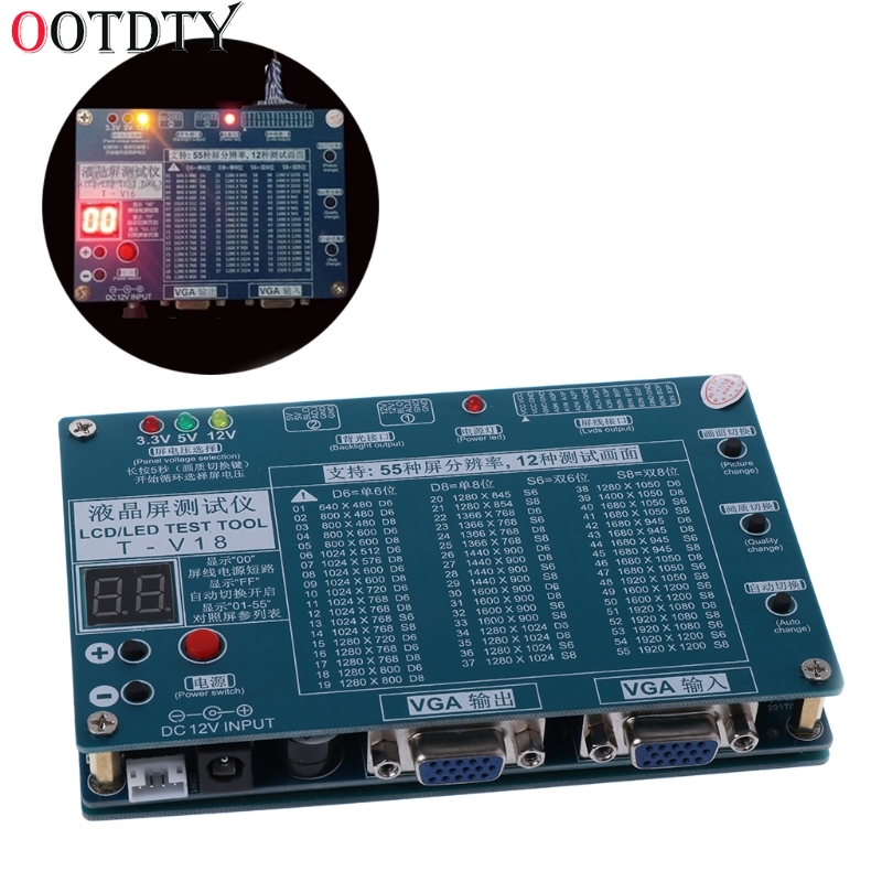 OOTDTY 2008 Fashion Laptop TV/LCD/LED Test Tool Panel Tester Support 7 -84 Inch LVDS 6 Screen Line shanwen laptop tv lcd led test tool panel tester support 7 84 inch lvds 6 screen line