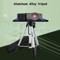 Dsupport PB1500 High Quality Universal Portable Free Lifting Aluminum Projector Tripod Stand With Tray Size 29