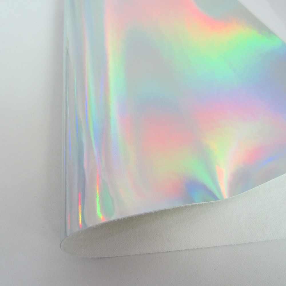 """8 """"x 11"""" (21 cm x 29 cm) tecido De Couro tecido iridescente holográfico Prata Roxo Rosa de couro falso para decoração saco 1 peças KA117"""