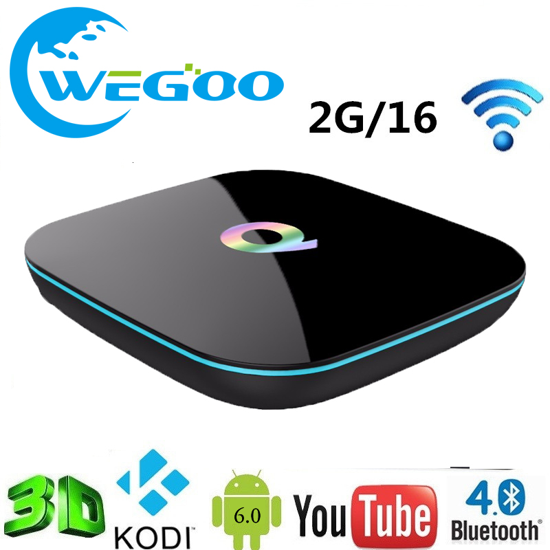 ФОТО Hot Q Box Android 6.0 Smart TV BOX Media player Amlogic S905X 64bits 2GB 16GB Gigabit LAN WiFi H.265 TV Full Loaded