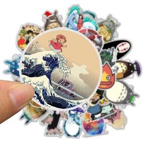 Image 4 - Autocollants autocollants, Anime Miyazaki Hayao, mon voisin Totoro/spirit Away, pour Skateboard, ordinateur portable vélo, imperméables, 50pcs