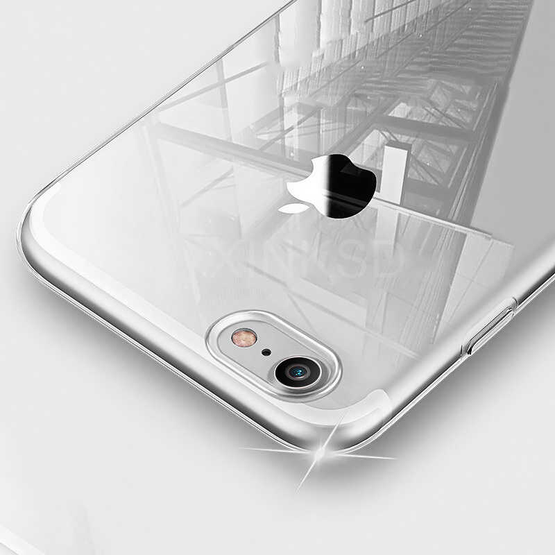 Ultrafino Delgado transparente suave TPU funda de teléfono para iPhone 7 8 Plus Capa Clear fundas para iPhone X 6s 8 7 Plus 6 funda tapón de polvo 3