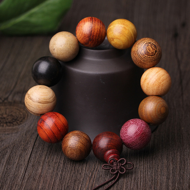 bangles item round bracelet wood girls natural beads with women simple wooden colorful yuluch jewelry large