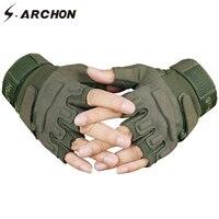 S. ARCHON армия США тактические перчатки без пальцев мужские нескользящие половина пальца военные стрельбы рукавицы мужские SWAT боевые перчатк...