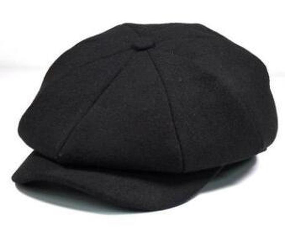 6e2e666e458af ... Men Tweed Beret Cap Peaky Blinders Baker Boy Flat Check Grandad Hat Man  ...