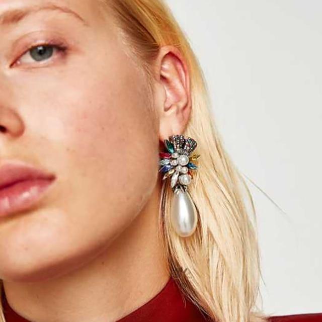 Best lady Special Design Luxury Bohemian Wedding Simulated Pearls Earring Women