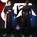 HOT ! 2016 new men singer nightclub DJ right GD Zhi-long wool trench coat sanding multicolor knight costume plus size clothing
