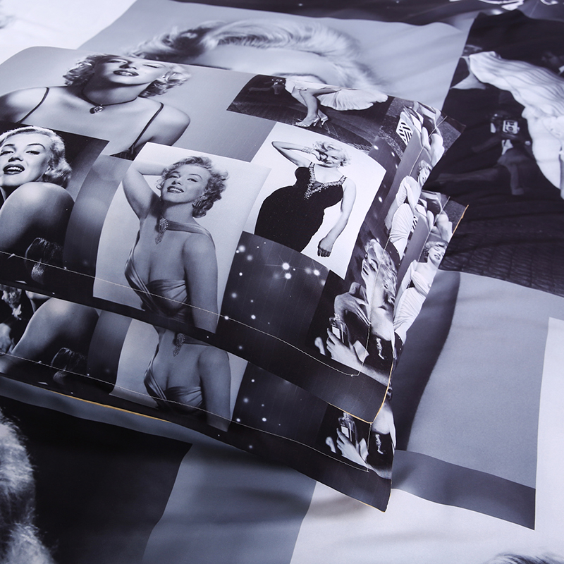Marilyn Monroe 3D Bedding Set Print Duvet cover set Twin queen king - Home Textile - Photo 3