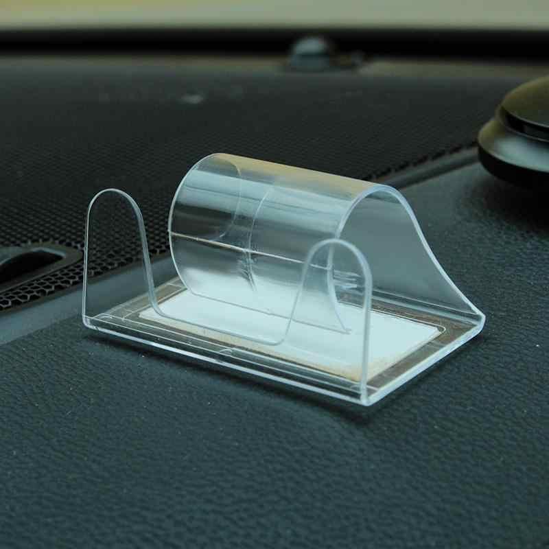 אוניברסלי מרכז קונסולת רכב מחזיק טלפון מיני שקוף בלתי נראה סוגר ביד אחת לבחור מקום הפעלה קלה