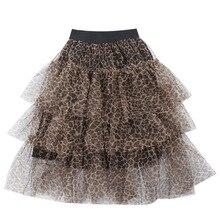 Детские леопардовые юбки для девочек юбки-пачки для девочек летняя одежда для маленьких детей 3 слоя, юбка-пачка для танцев, юбка-американка Одежда для девочек