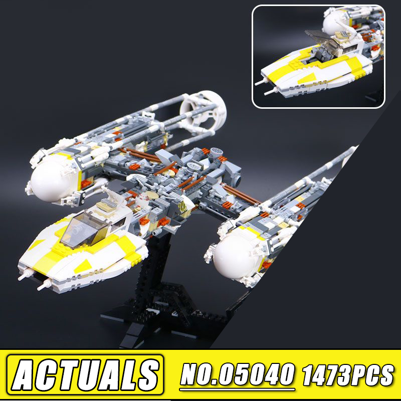 Lepin 05040 Star Series Wars the Y Set Wing Attack Star Model fighter Building Blocks Assembled bricks Toys Compatible 10134 lepin 05060 star series wars ucs naboo star type fighter aircraft model building blocks bricks compatible legoed 10026 toy gifts