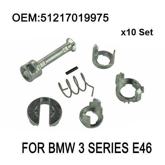 X10 Set pour BMW série 3 E46 serrure de porte cylindre KIT de réparation avant gauche ou droite OE 51217019975 nouveau