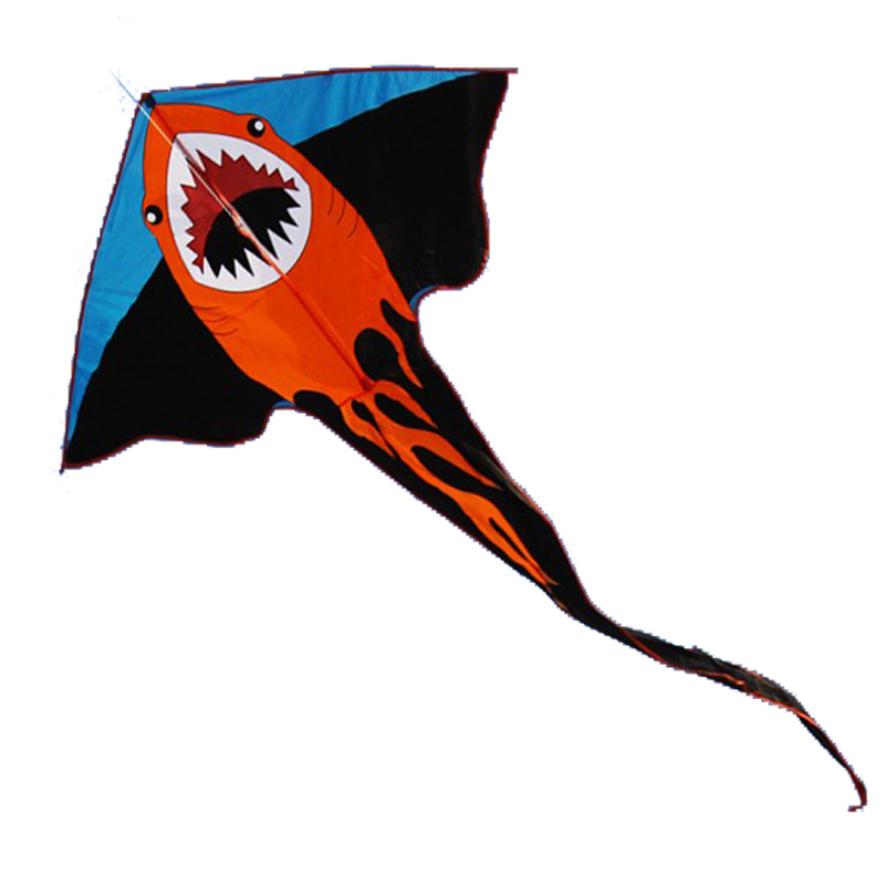 New High Quality 2 m Power Cartoon Shark Kite / Crocodile Kite With Handle and Line Factory Outlet Good Flying