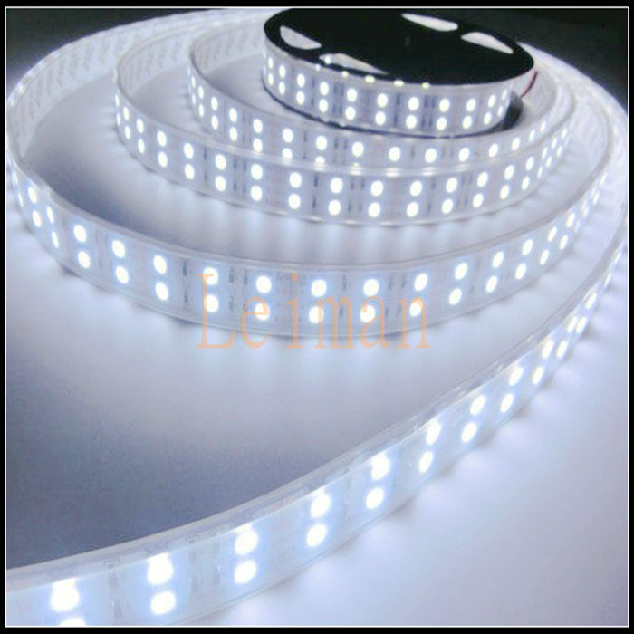 warm white white rgb smd 5050 double row waterproof led strip light 120led m 5m 600leds dc 12v. Black Bedroom Furniture Sets. Home Design Ideas