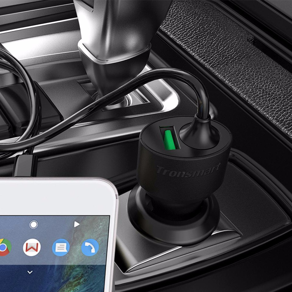 Tronsmart CCTA Car-Charger Quick Charge 3.0 USB Type C Car Charger for Xiaomi Mi5 for LG G5 for Elephone S7 [Qualcomm Certified] (6)-1