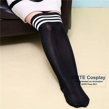 The Knee High Stockings Women Lolita Cosplay Cotton solid color School Style Slim Sexy Stockings Plus Size