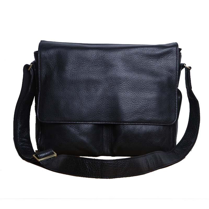 AETOO Original men's baotou pure leather crossbody bag Men's leather shoulder bag big bag casual flip недорого