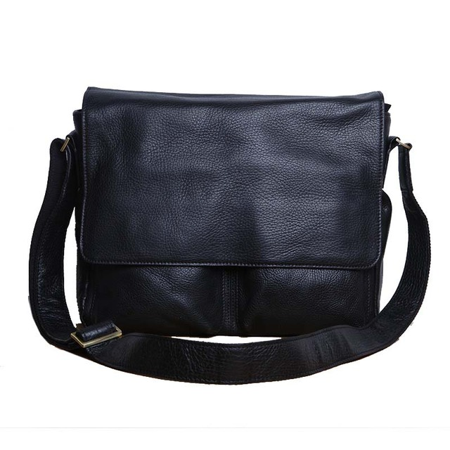 28a7ad6b3e AETOO Original men s baotou pure leather crossbody bag Men s leather  shoulder bag big bag casual flip