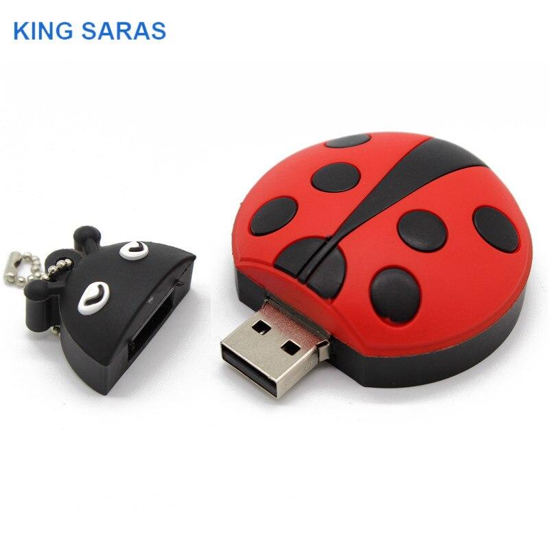Image 3 - KING SARAS  cartoon Beetle model usb2.0 4GB 8GB 16GB 32GB 64GB pen drive USB Flash Drive creative gifty Stick Pendrive-in USB Flash Drives from Computer & Office