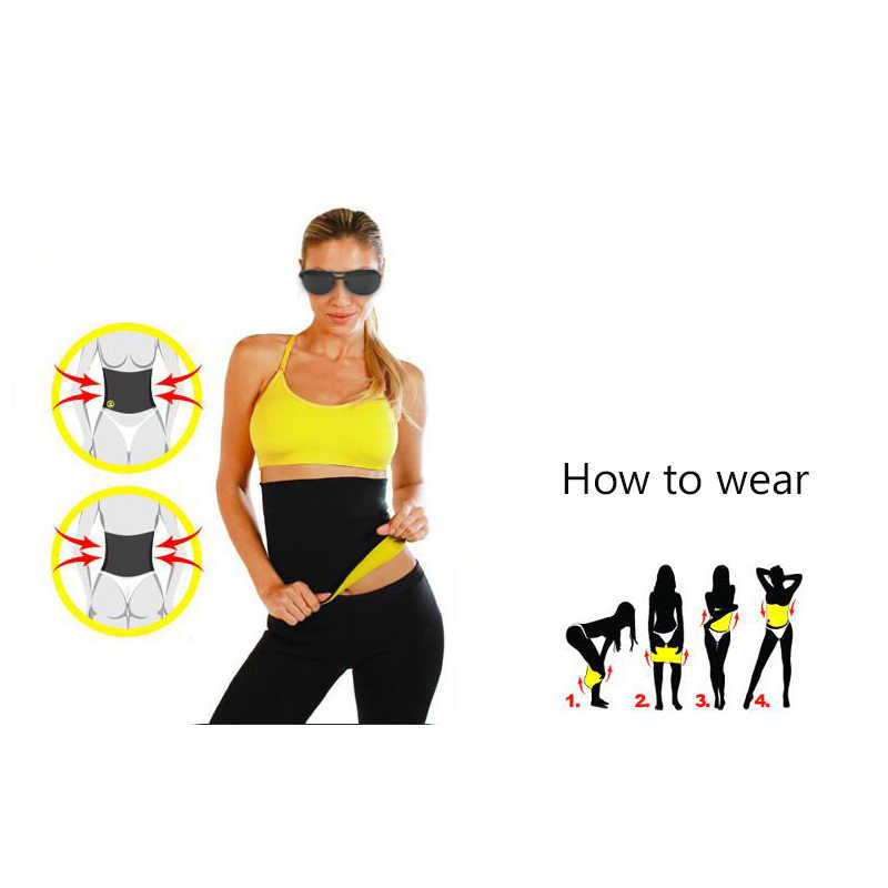 535e80fb45a ... Woman Hot Neoprene Toning Belt Body Shaper Waist Slimmer Belly Trainer Fat  Burning Cellulite Fitness Weight