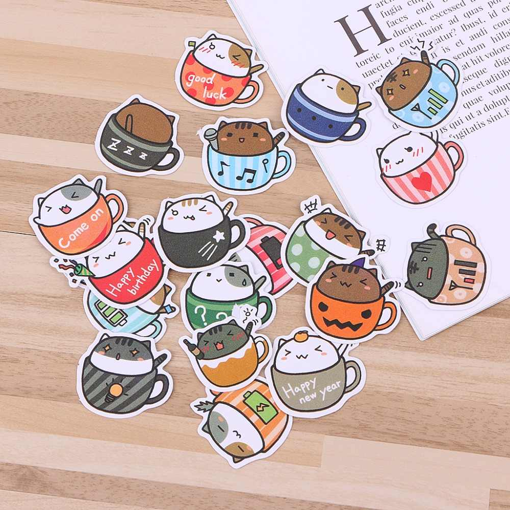 Cartoon Dier DIY Stickers Kids Creatieve Decoratieve Dagboek Label Scrapbook Gift