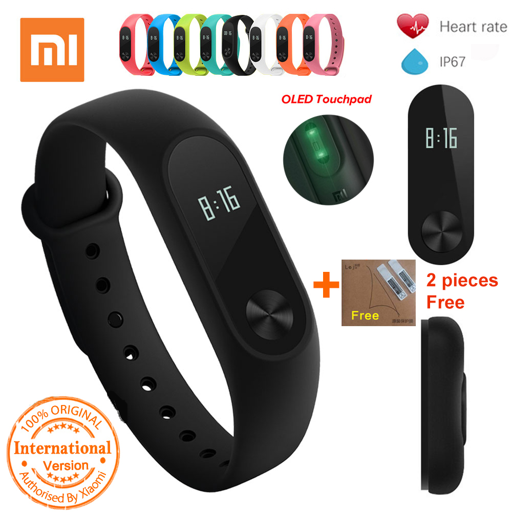 Xiaomi Mi Band 2 Smart Watch Schlaf-monitor Herzfrequenz Smart Armband Armband Miband 2 Fitness Tracker mit OLED Miband2 # B5