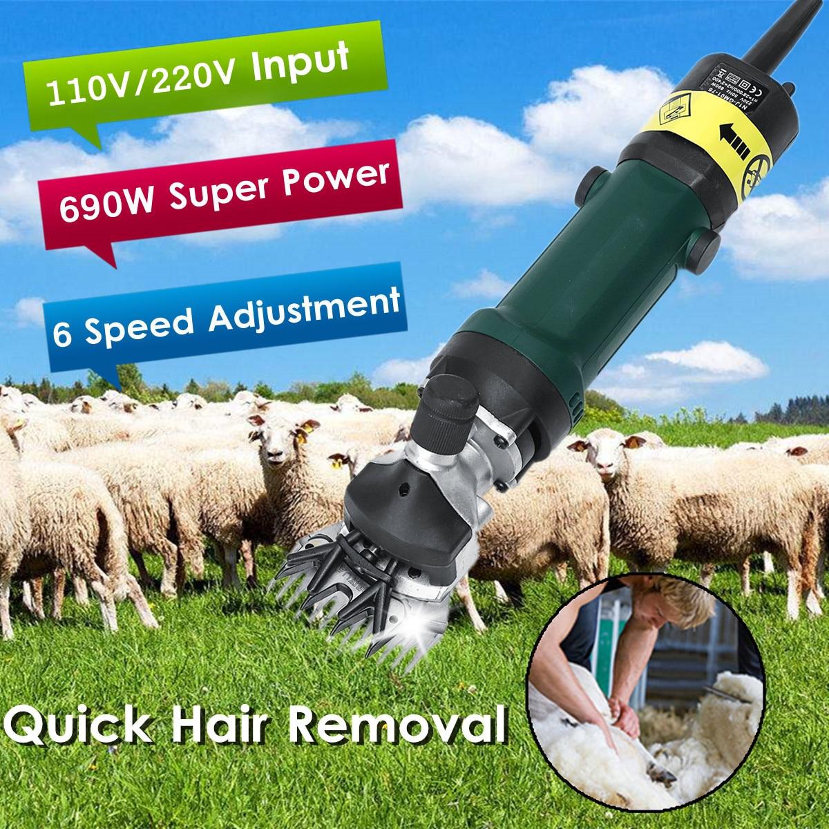 Électrique Tonte des Moutons Clipper 690 w 6 Vitesse Réglable Cisailles De Chèvre Cheveux Enlèvement Tondeuse Lumière Poids Durable Solide Haute Vitesse