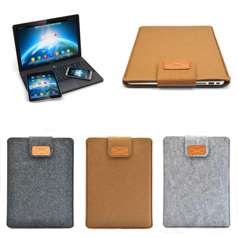 Soft Sleeve Bag Case Notebook Cover for 11/13/15inch Macbook Air Pro Retina Ultrabook Laptop Tablet PC Anti-scratch QJY9 hot soft felt sleeve bag case for apple macbook air pro retina 11 12 13 15 laptop anti scratch cover for mac book 13 3 inch