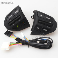 MZORANGE For KIA K2 2017 Steering Wheel Audio Volume Music Cruise Control Button Switch With Bluetooth