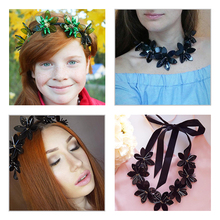 Fashion Women 2016 ZA Necklace Pendant Collier Femme Collar Choker Rope Chain Maxi Bijoux Statement Jewelry Flower Accesory