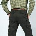 AFS JEEP Carga Calças Dos Homens Casuais Calças Moda masculina de Boa Qualidade Primavera/Inverno Militar Do Exército Multi-bolsos pantalon homme