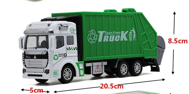 Alloy car truck back to sanitation garbage truck tankers sprinkler children toy car model gift box