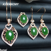 KJJEAXCMY Fine Jewelry Colorful Jewelry Natural Jasper 925 Silver Set Explosion Exquisite Batch Of Female Hair