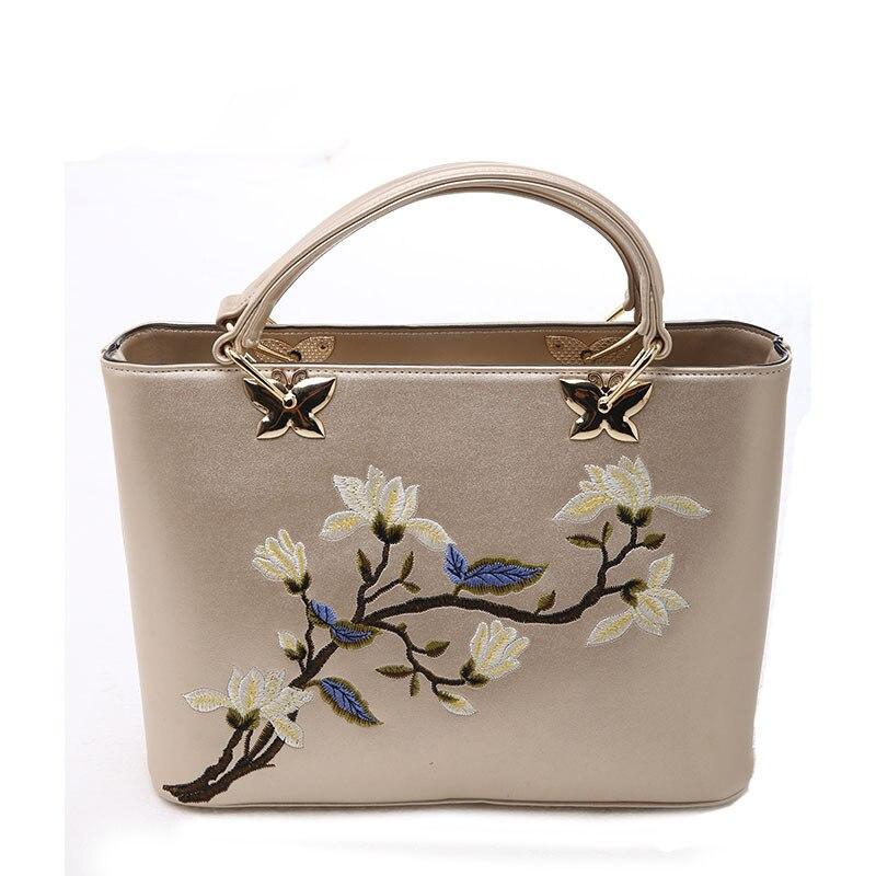 Crossbody Bags For Women Fashion Glod PU Leather embroidered Small Handbags Fema