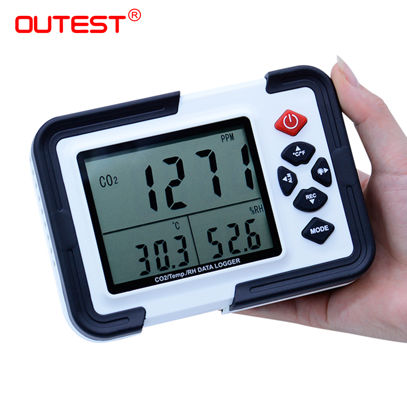 HT-2000 Digital CO2 Meter CO2 Monitor Detector Gas Analyzer 9999ppm CO2 Analyzers Temperature Relative Humidity Tester недорого