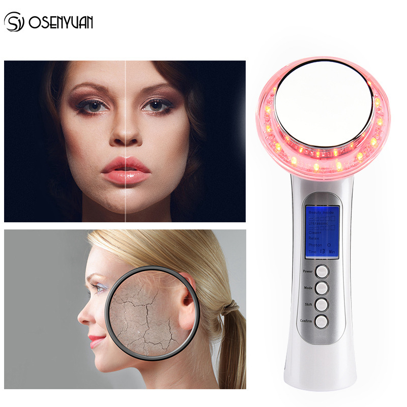 Skin Care Options Ultrasonic Galvanic Ion Photon Skin Rejuvenation Anti Aging Acne Remover Face Lifting skin beauty machine все цены