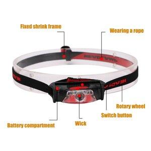 Image 3 - Mini Head Lamp 4 Modes Waterproof 1*XPE White+2*LED Red Flashlight Headlight Headlamp Torch Lanterna with Headband Use AA
