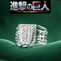 Anime Attack on Titan Ring Scouting Legion 925 Silver Wings of Liberty Ring Women Men Jewelry Cosplay Party Rings Dropshipping