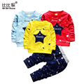 spring Boys sport suit Kid Clothes Sets skyblue stars fashion child Boys T-Shirt + Shorts children Sport Suit Baby Boy Clothes
