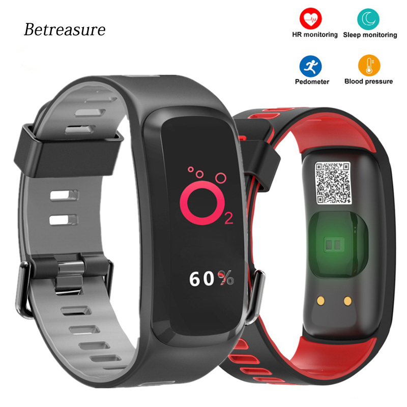 Betreasure F4P Bluetooth Smart Wristband Blood Pressure/Heart Rate Monitor Fitness Bracelet Sport IP68 Swimming GPS SmartBand