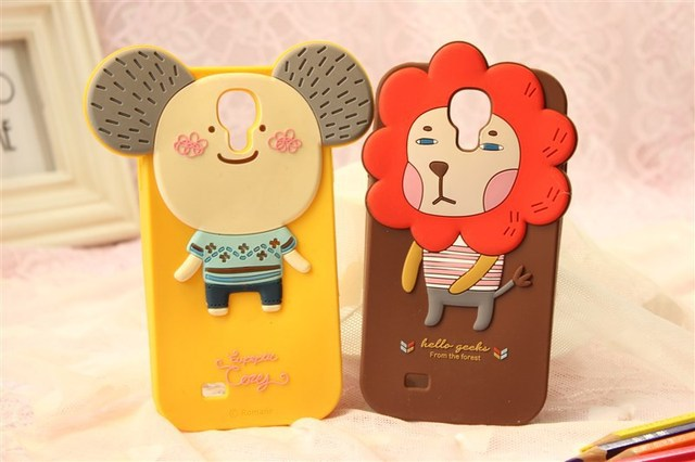 MOMO's Blog 3D Cute Cartoon Silicone Case Cover For Samsung Galaxy S4 I9500 ,retail package Free Shipping 50pcs/lot