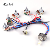 Electric Guitar Wiring Harness Kit 2V2T With Pot Jack 3 Way Switch For Gibson Les Paul