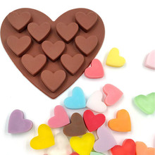 Silicone Soap Mold Heart Shape Chocolate Candy Molds Cake Baking Moulds Handmade Kitchen Tools
