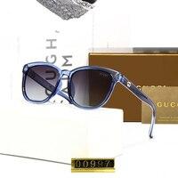 Fashion Police Lady Sunglasses Women 2019 Luxury Brand Designer Crystal Frame Polaroid Lens 4 Color Optional Retro Sun Glasses