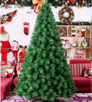 2 1m 210cm Luxury Encryption Christmas Tree PVC Pine Tree Metal Frame Xmas Christmas New Year