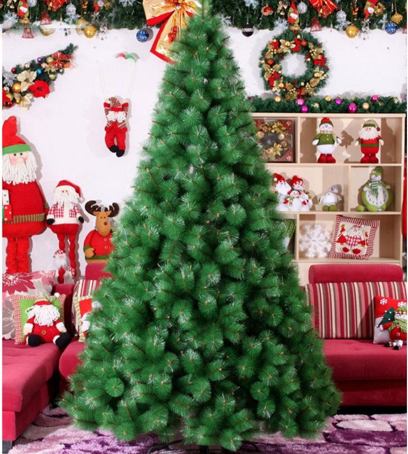 2.4 m/240 cm cifrado lujo Navidad árbol PVC árbol metal Marcos ...